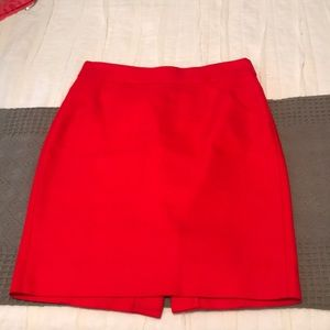 J. Crew Red Pencil Skirt, 00P